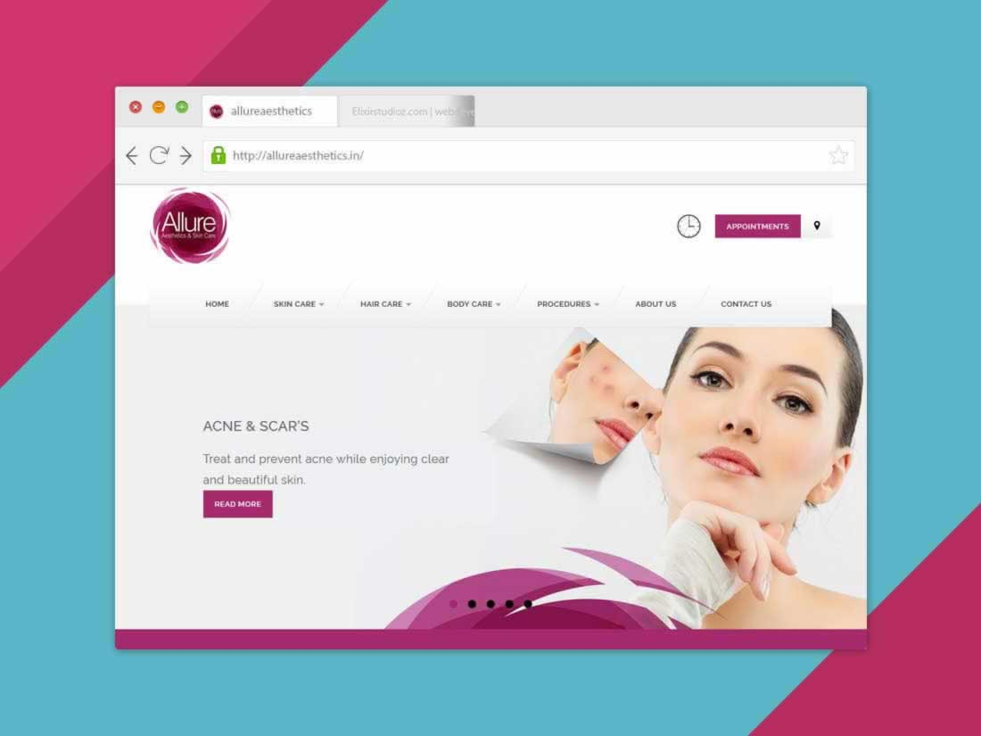 allureaesthetics-service-spa-websitedevelopment-elixirstudioz-hyderabad