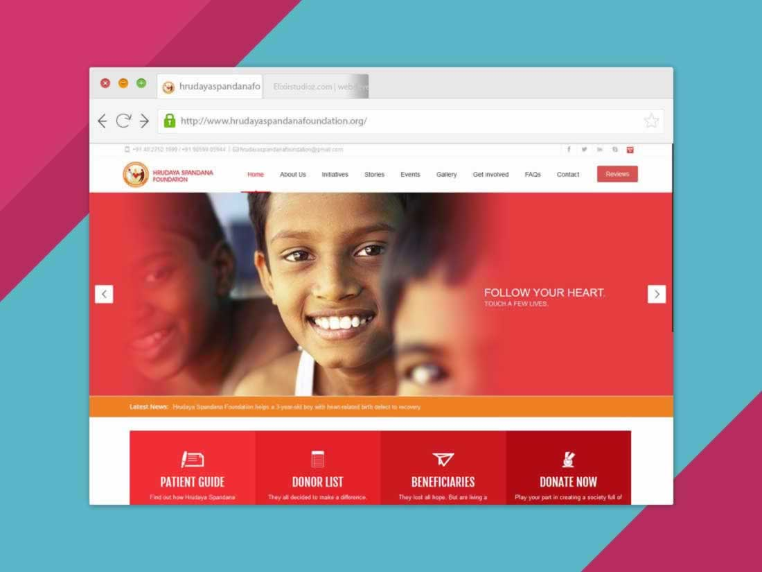 hrudayaspandana-foundation-Health-helthcare-websitedevelopment-elixirstudioz-hyderabad